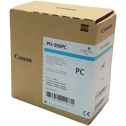 Canon PFI-306 PC - Wkład drukujący błękitny fotograficzny (Photo Cyan)