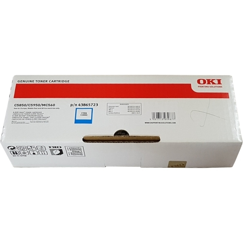 OKI 43865723 - Toner błękitny (Cyan)